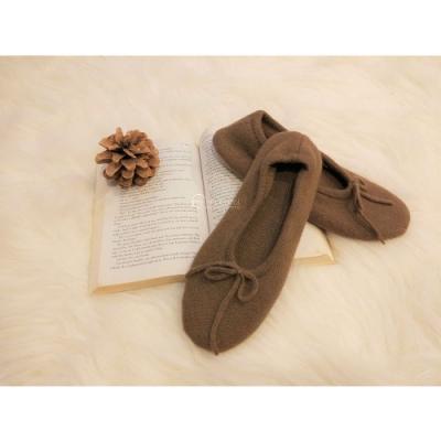 【F.M&Carol】精緻CASHMERE SLIPPERS羊絨閒適家居鞋