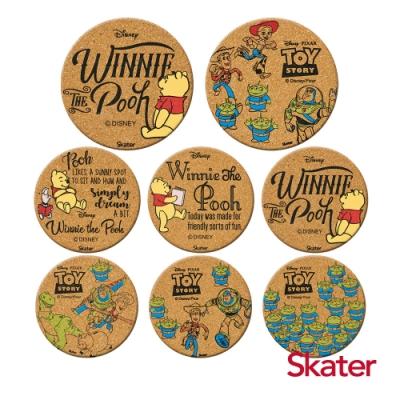 Skater杯墊2組-玩具總動員+小熊維尼