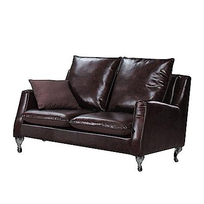 品家居 安法拉透氣皮革沙發雙人座-141x80x92cm免組