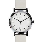 THE HORSE 灰黑琥珀真皮革腕錶 –白色/42mm