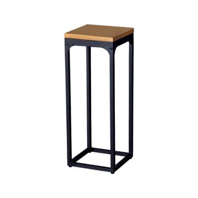 柏蒂家居-安德森工業風方型花架/玄關桌/置物收納架-中-30x30x80cm