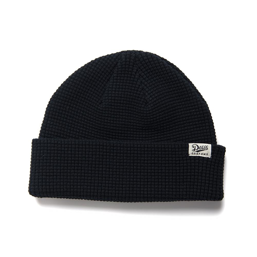 Deus Ex Machina  Waffle Beanie 針織帽-(黑)