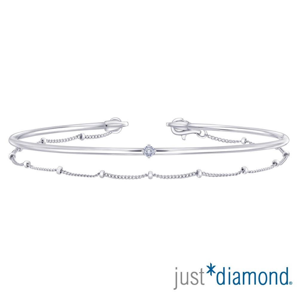 Just Diamond 18K白金鑽石手環-Perfect Wave