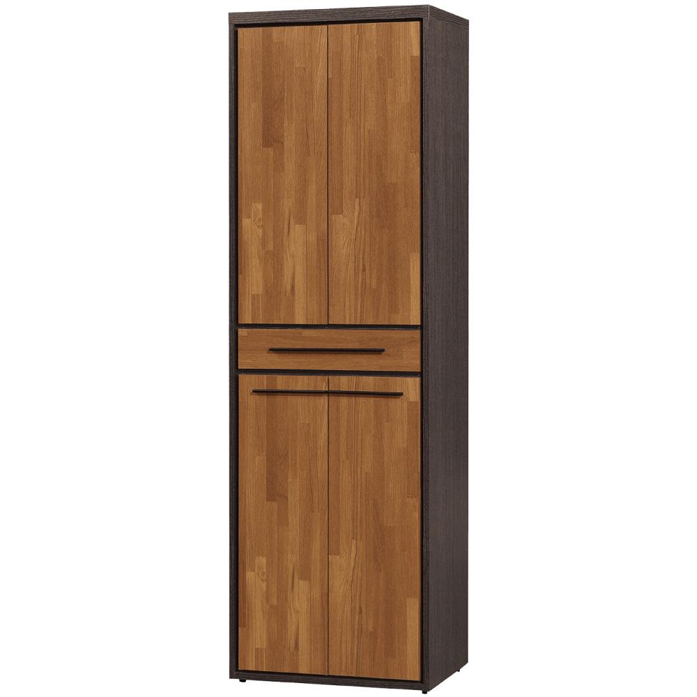 文創集 杜奧爾時尚2尺四門雙面隔間櫃/鞋櫃-60x38x195cm免組