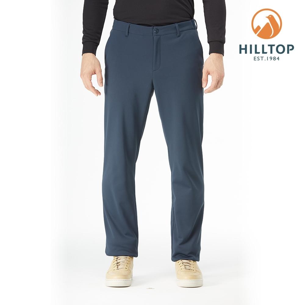 【hilltop山頂鳥】男款WINDSTOPPER防風透氣保暖長褲H31MM6黑藍
