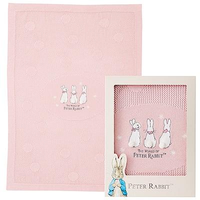 奇哥 恬靜比得兔洞洞棉毯禮盒-粉色