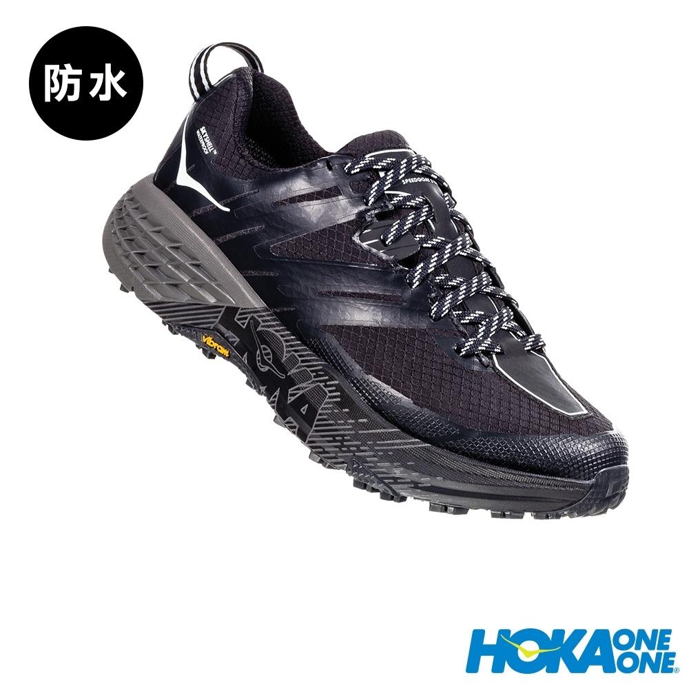 HOKA ONE ONE 女 Speedgoat 3 防水 野跑鞋 黑