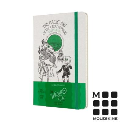 MOLESKINE 綠野仙蹤限定版筆記本-大騙子的魔法(L型橫線)