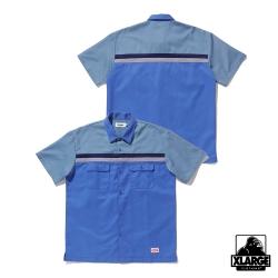 XLARGE S/S LINE WORK SHIRT短袖襯衫-亮藍