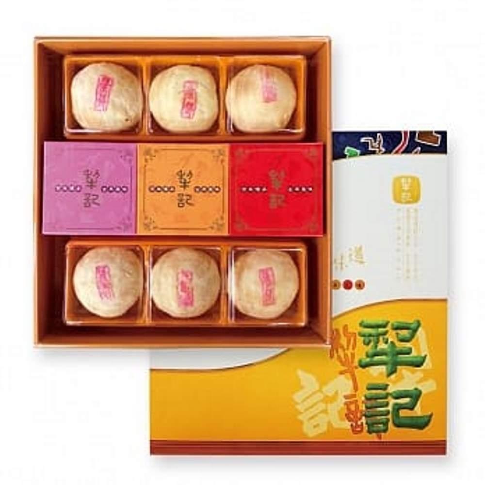 台中犂記 廣月禮盒(9入)(奶黃白豆沙3+犂茶酥3+中廣式月餅-紅豆/鳳梨/桂圓)
