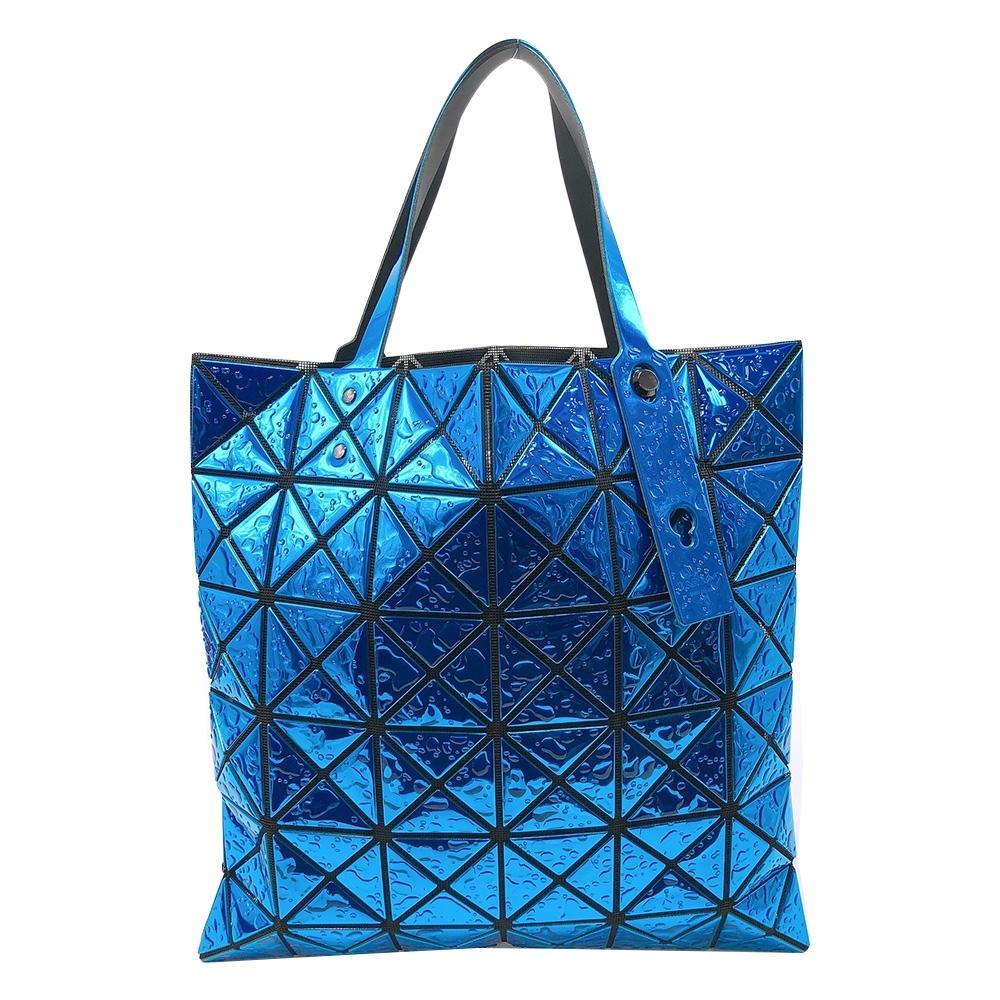 ISSEY MIYAKE 立體水滴幾何6X6手提/肩背二用包(藍)