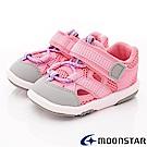 日本月星頂級童鞋 運動護趾涼鞋 FI114粉(寶寶段)