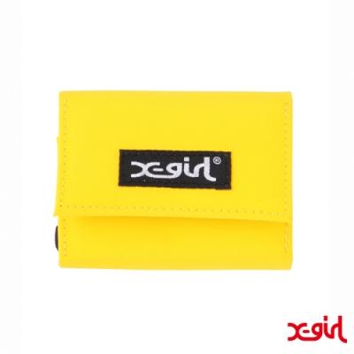 X-girl TARPAULIN EASY WALLET短夾-黃