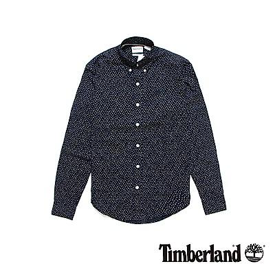 Timberland 男款深藍印花長袖襯衫