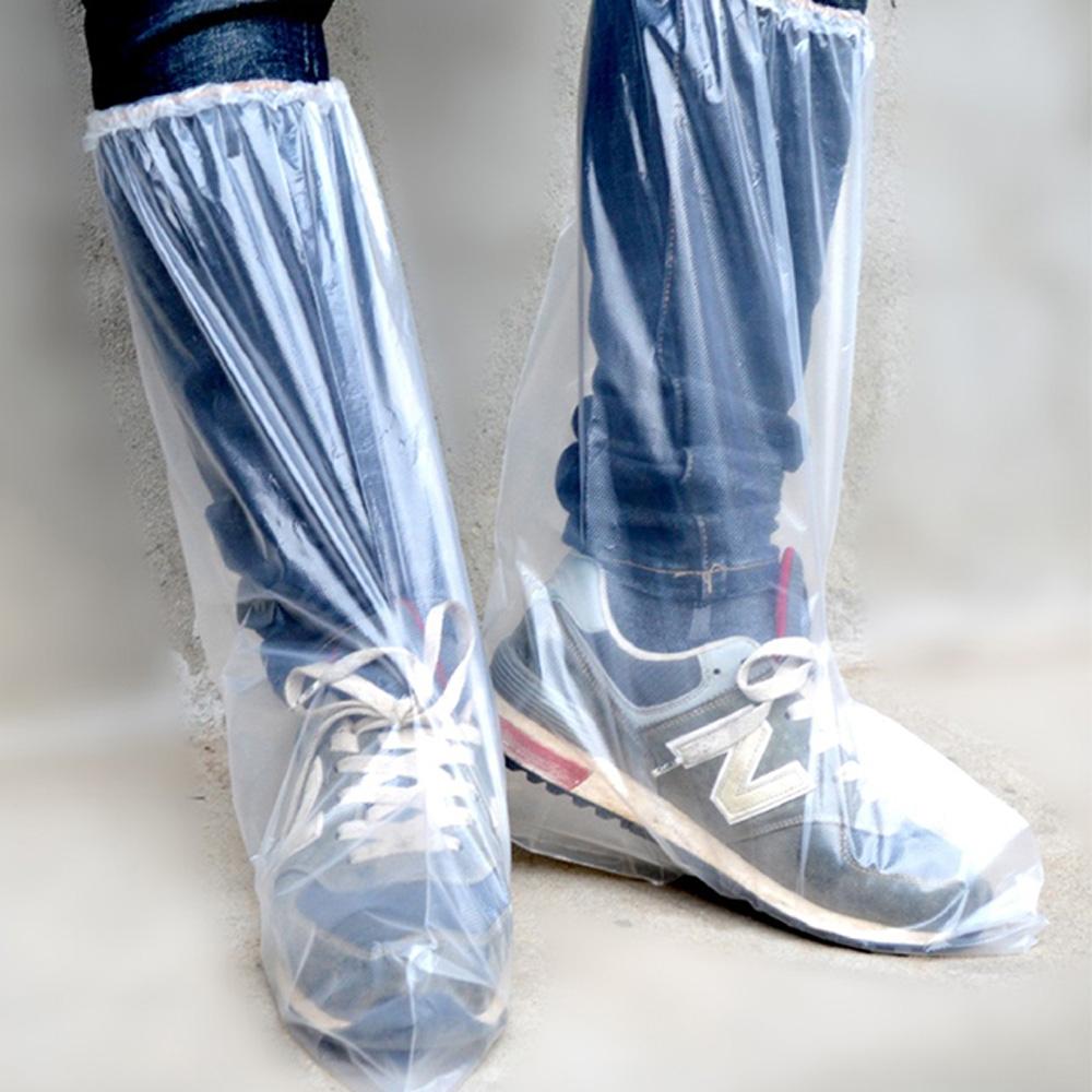[時時樂限定]-(預購)防疫防護鞋套防疫神器-20支組合(10雙) (B款-透明橡皮筋)