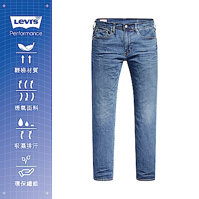 Levis 男款 上寬下窄 502 Taper牛仔褲 Cool Jeans 中藍刷白