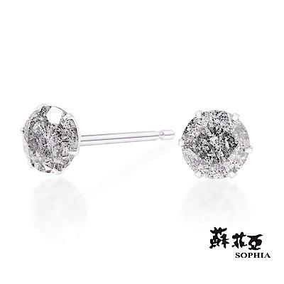 蘇菲亞SOPHIA - 輕珠寶系列精緻六爪0.50克拉鑽石耳環