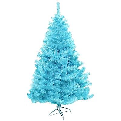 摩達客 豪華型4尺(120cm)冰藍色聖誕樹(不含飾品不含燈)