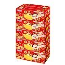 五月花吉利財神版盒裝面紙150抽x5盒/串