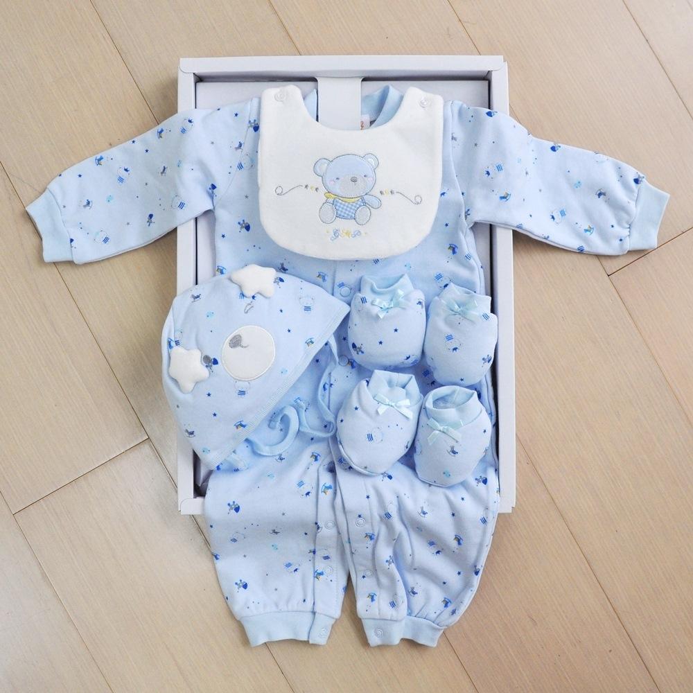 GMP BABY 王子熊B 藍兩用兔裝+帽 彌月禮盒