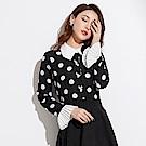 波點喇叭袖開衫雪紡長袖襯衫S~XL-SZ