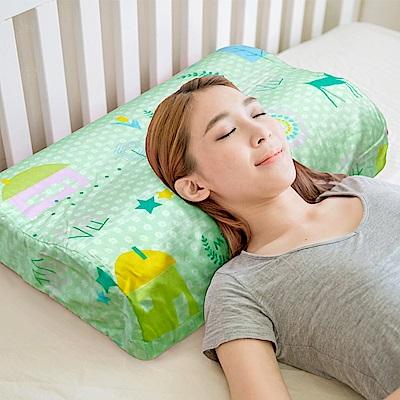 米夢家居-原創夢想家園系列-成人專用-馬來西亞進口純天然乳膠工學枕(青春綠)一入