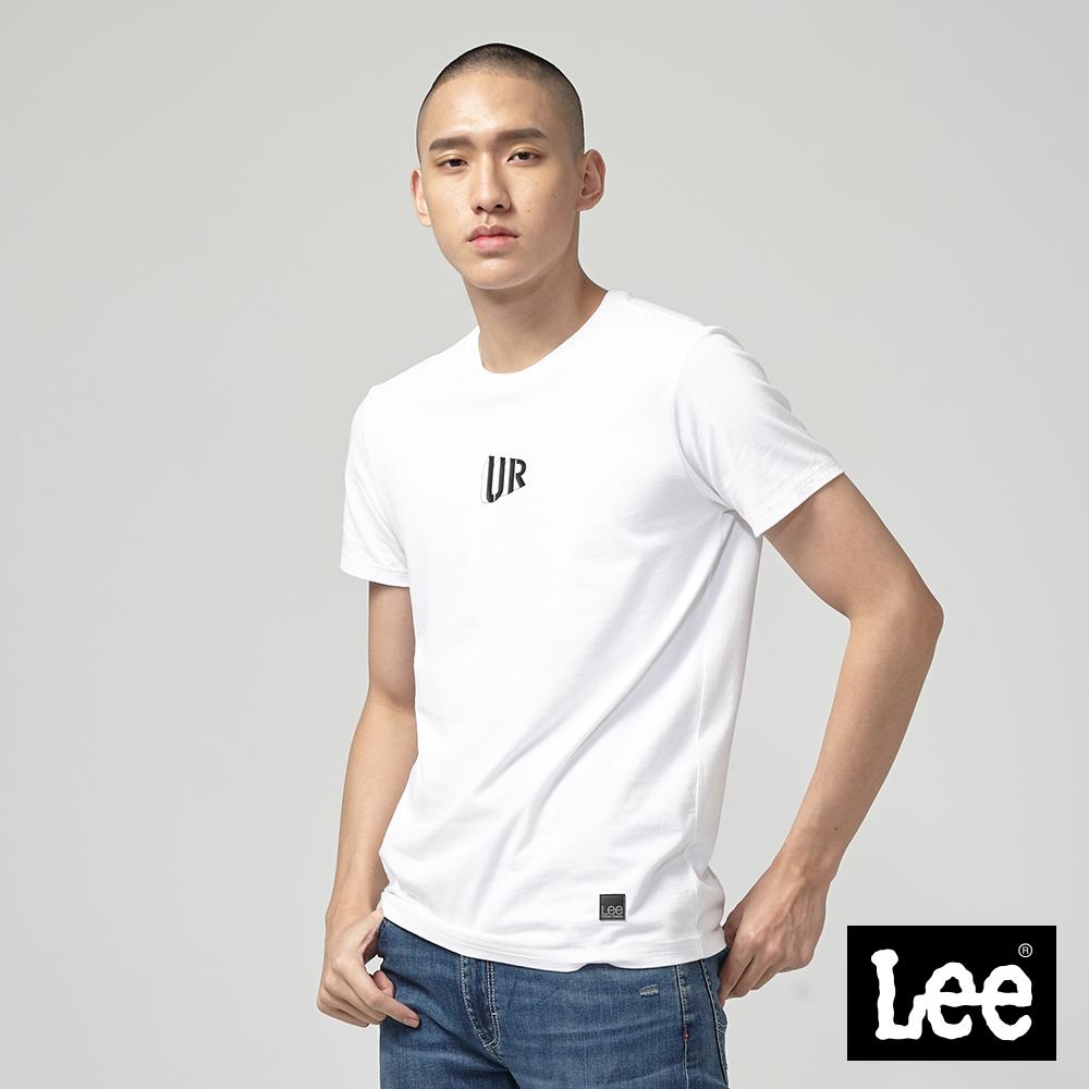Lee UR背後照片印刷短袖圓領TEE-白
