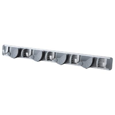【FL生活+】鋁合金免釘快卡式拖把固定架-4桿5勾組(FL-215)
