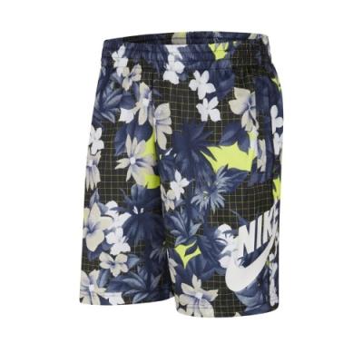 Nike 短褲 SB Sunday Shorts 男款 滑板概念 休閒 繽紛花卉 網格 膝上 藍 黑 CI7344010