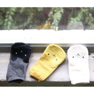 【彌之星MiniDressing】兒童彈性襪三件組-無辜小兔 S號(韓國製)