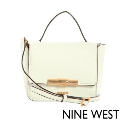 NINE WEST HOLLIS掀蓋式金屬釦方型MINI手提包-純白色(116678)