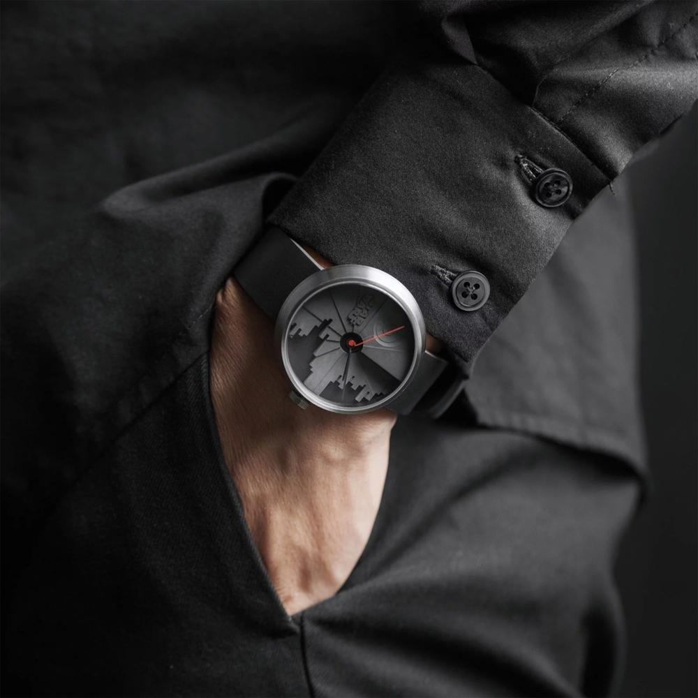 22四度空間水泥錶-死星二代款-42mm/白鋼銀色