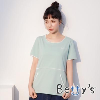 betty's貝蒂思 配色圓領短袖T-shirt(淺綠)