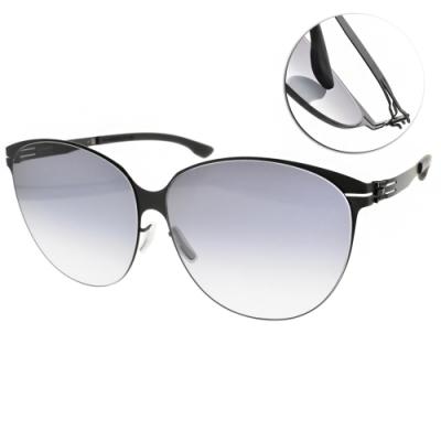 ic!berlin 太陽眼鏡 薄鋼眉框款/霧黑-漸層藍鏡片 #Swing Black