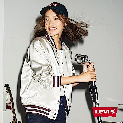 Levis 女裝 棒球外套 雙面穿 立體刺繡