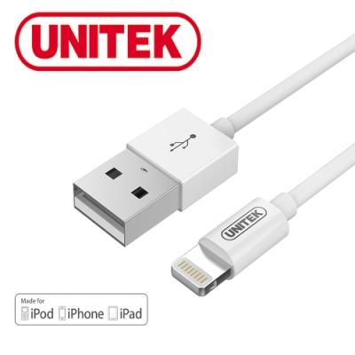 UNITEK 蘋果官方授權認證充電傳輸線1M