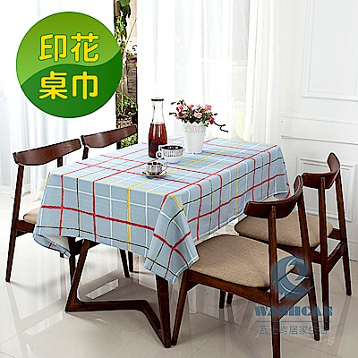 Washcan瓦士肯 清新印花桌巾-彩虹蠟筆 120x170cm