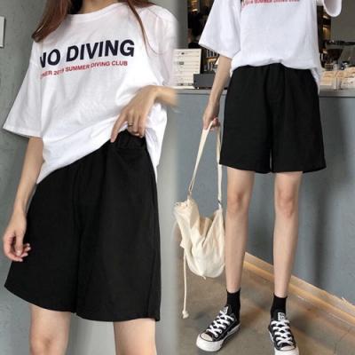 【韓國K.W.】(預購)韓時尚學院運動短褲-2色