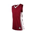 NIKE 男V領籃球針織背心-無袖背心 運動背心 球衣 暗紅白