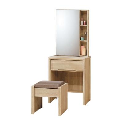 柏蒂家居-肯塔2尺鏡台/化妝桌(贈化妝椅)-61x40x155cm