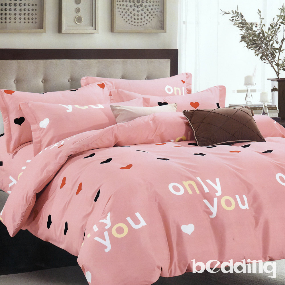 BEDDING-活性印染6尺雙人加大薄床包涼被組-唯一的你