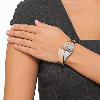 CALVIN KLEIN Senses 系列玫瑰金雙色唯美手環-XS