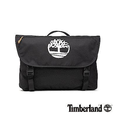 Timberland 中性黑色雙扣斜肩郵差包 |A1CV3