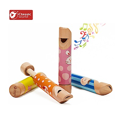 德國Classic world 木製兒童遊戲哨子