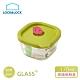 樂扣樂扣 矽膠上蓋耐熱波浪玻璃保鮮盒/方形170ml/綠色(快) product thumbnail 1