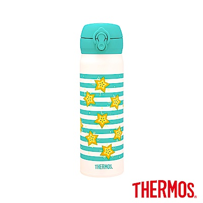 THERMOS膳魔師楊桃款不鏽鋼真空保溫瓶0.5L(JNL-500-STFT)