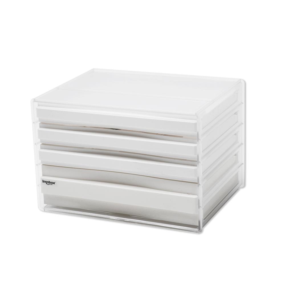 完美主義 桌上型資料櫃/文件櫃/橫式四抽