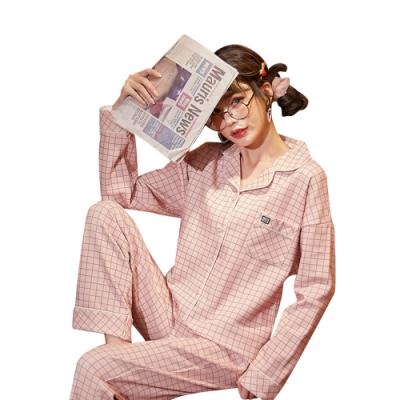 Baby童衣 女生居家套裝 大尺碼睡衣 開釦式韓版女長袖睡衣 大女童休閒套裝 88546