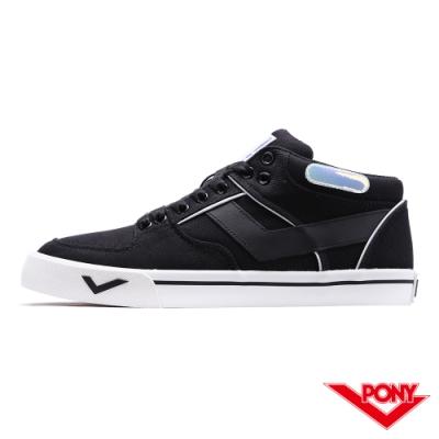 【PONY】ATOP系列滑板鞋-男款-黑/雜色