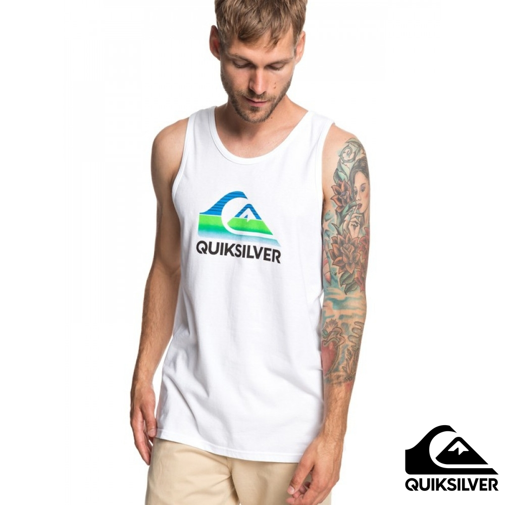 【QUIKSILVER】WAVES TANK MT1 純棉背心 白